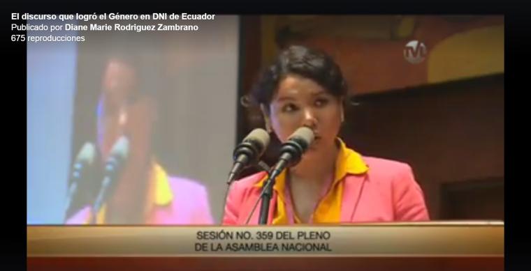 El discurso que logró el Género en DNI o cédula en Ecuador - Diane Rodríguez Federación Ecuatoriana de Organizaciones LGBT.png