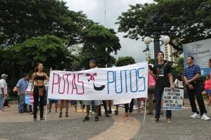 Marcha de las Putas y Putos Guayaquil - Ecuador - Asociación Silueta X (25)