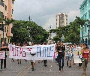 Marcha de las Putas y Putos Guayaquil - Ecuador - Asociación Silueta X con Diane Rodriguez (17)