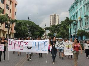 Marcha de las Putas y Putos Guayaquil - Ecuador - Asociación Silueta X con Diane Rodriguez (18)