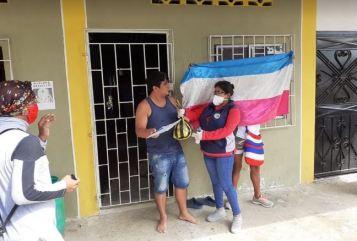 Colectivo PIL LGBT de Pedro Carbo, Isidro Ayora y Lomas de Sargentillo miembro de la Federación realiza gestiones para dar canastas de alimentos por Covid 19 en Ecuador 8