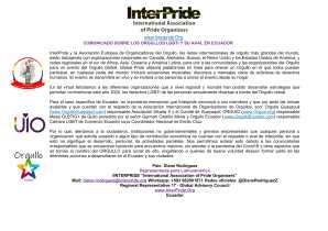 Boletín de Prensa - COMUNICADO SOBRE LOS ORGULLOS LGBTI Y SU AVAL EN ECUADOR - Interpride - Orgullo Ecuador - Orgullo Guayaquil - ORGUIO-1
