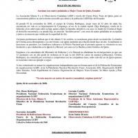 #Ecuador| BOLETÍN DE PRENSA Asesinan con cuatro puñaladas a Mujer Trans de Quito, Ecuador